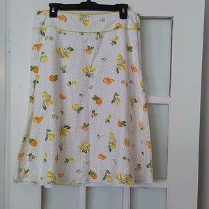 🏷️ Liz Claiborne Orange and Lemon Skirt